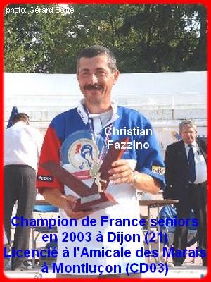 Champion de France pétanque senior tête-à-tête 2003