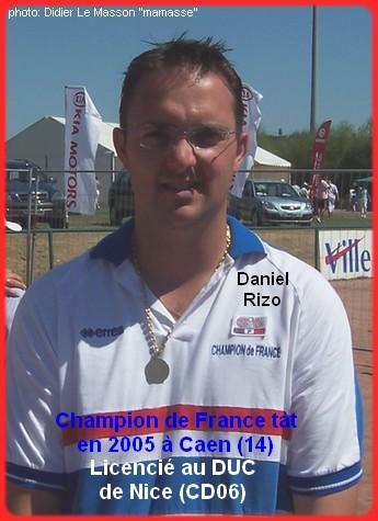Champion de France pétanque senior tête-à-tête 2005