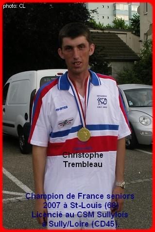Champion de France pétanque senior tête-à-tête 2007