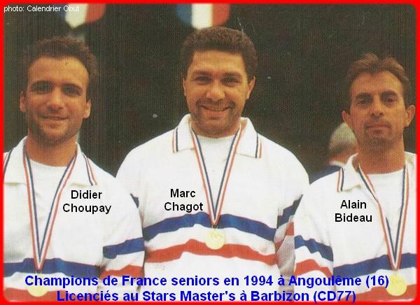 champions de France triplettes seniors pétanque 1994