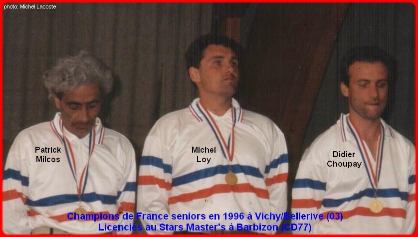 champions de France triplettes seniors pétanque 1996
