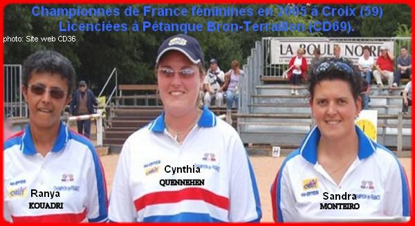 Championnes de France pétanque triplettes féminines en 2005