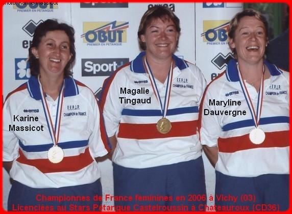 Championnes de France pétanque triplettes féminines en 2006