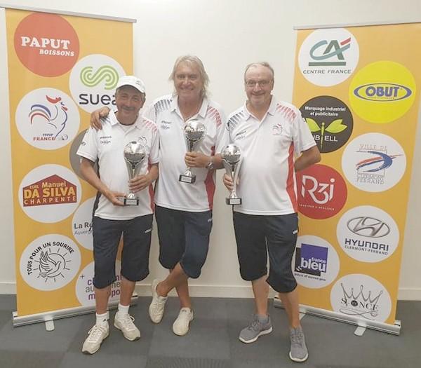 vainqueurs vétérans mondial volcans Clermont-Ferrand pétanque 2019