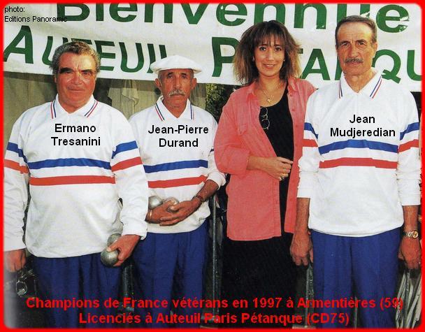 Champions de France triplettes vétérans en 1997