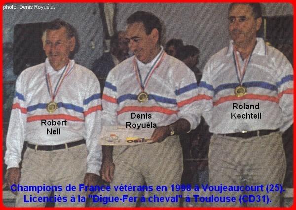 Champions de France triplettes vétérans en 1998