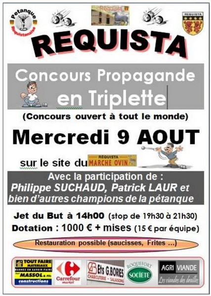 Affiche concours requista