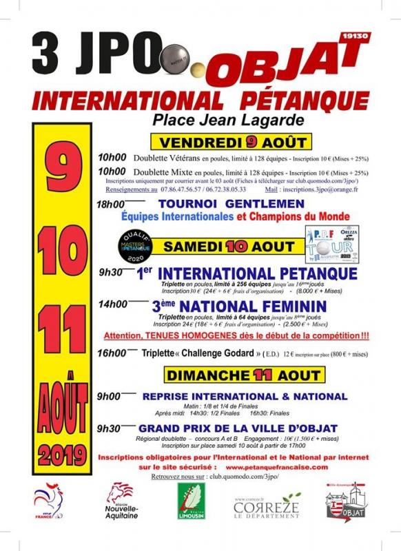 Affiche objat international pétanque