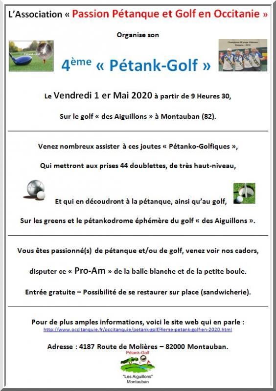 Affiche petank-golf 2020