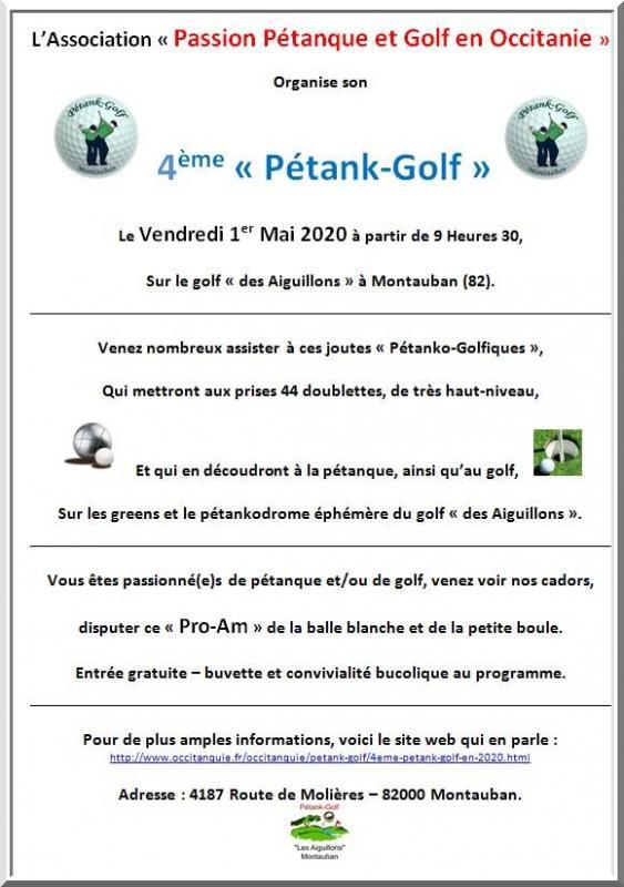 Affiche Pétank-Golf 2020