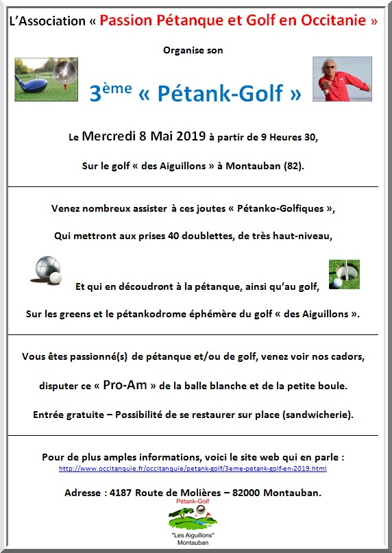 Affiche photo pétank-golf 2019