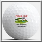 Balle golf logo pétank-golf