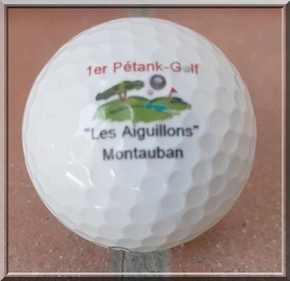 Bienvenue balle logotee Pétank-golf 2019