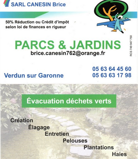 Brice Canesin parcs et jardins Pétank-Golf