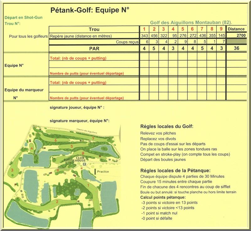 Carte parcours aiguillons pétank-golf 2019