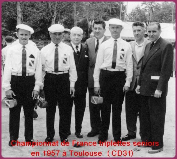 Championnat de france petanque 1957 à toulouse