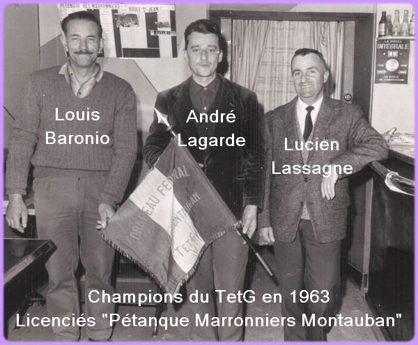 Champions tarn-et-garonne en 1963 pétanque