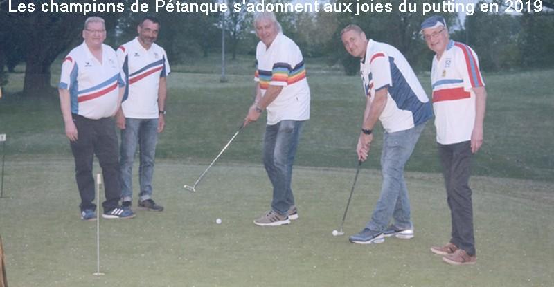 Champions petanque au putting petank golf 2019