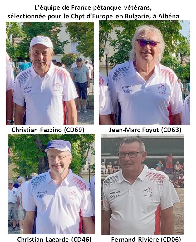champions europe vétérans 2019 en Bulgarie