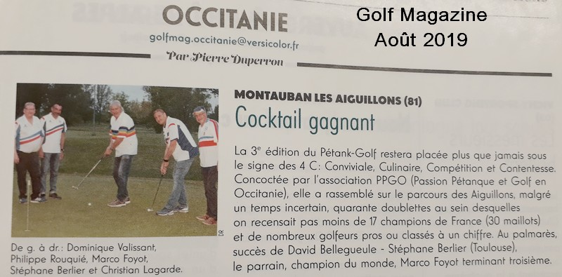 Golf magazine pétank-golf 2019
