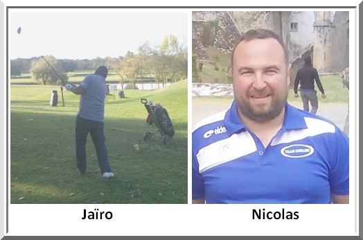 Jairo Rincon et nicolas Cousserand au Pétank-golf