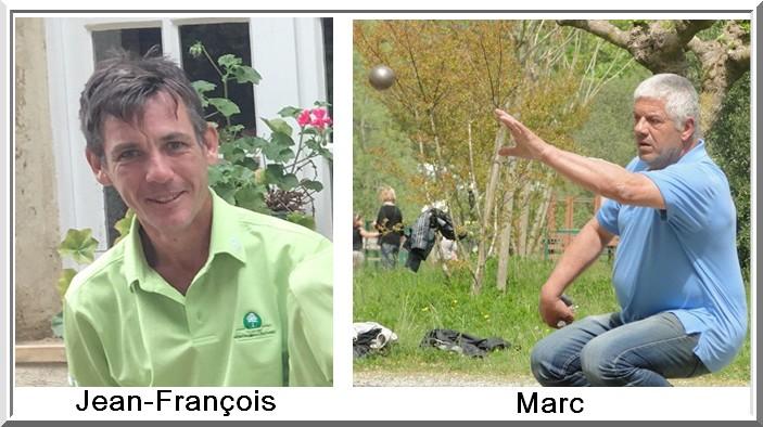 Jean francois Poujol et marc Bilois Pétank-Golf