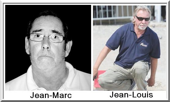 Jean marc Piquemal et Jean-Louis Gourse Pétank-Golf