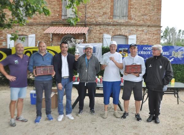 Les co-vainqueurs du 1er Pétank-Golf