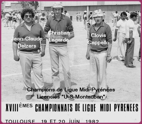 vainqueurs Ligue Midi-Pyrénées 1982 Toulouse
