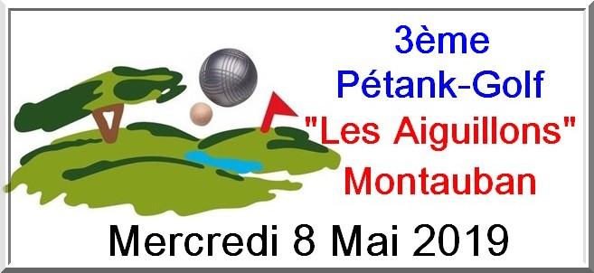 Logo affiche pétank-golf 2019