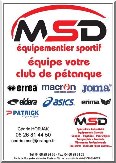 Logo msd pétanque golf 2018