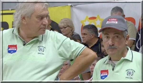 Maillot marco foyot et Christian Fazino légendes tombola pétank-golf 2019