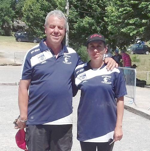 Michéle et Eric au France doublette mixte à Pontarlier