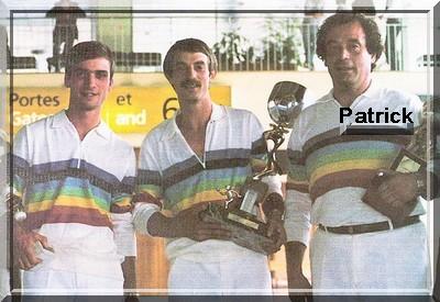 Patrick lopez Choupay Bideau cdum 1985 pétanqk-golf