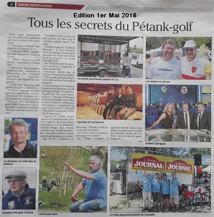 Petit journal 18 pétank-golf 2018