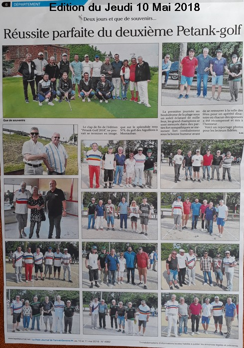 Petit journal 22 pétank-golf 2018