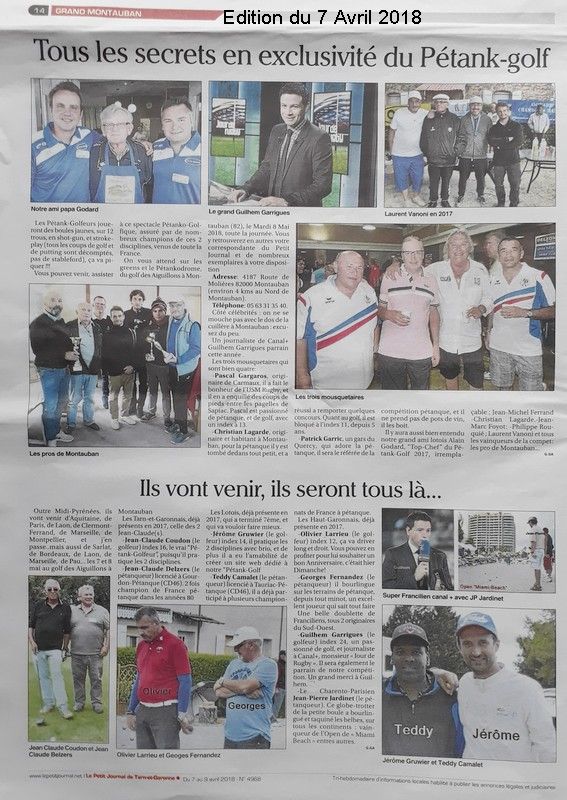 Petit journal 7 bis pétank-golf 2018