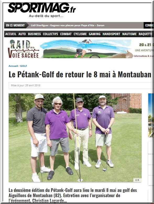 Photo sportmag 1 pétank-golf 2018