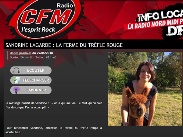 Podcast radio 28 mai 2018 ferme trèfle rouge montauban