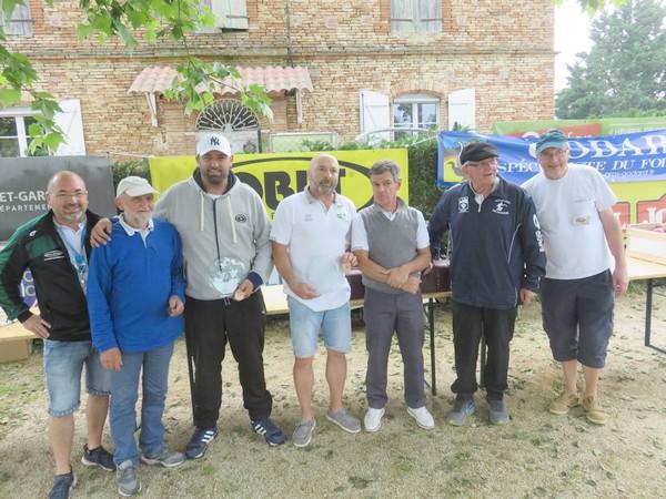 Les vainqueurs du Pétank-Golf 2018
