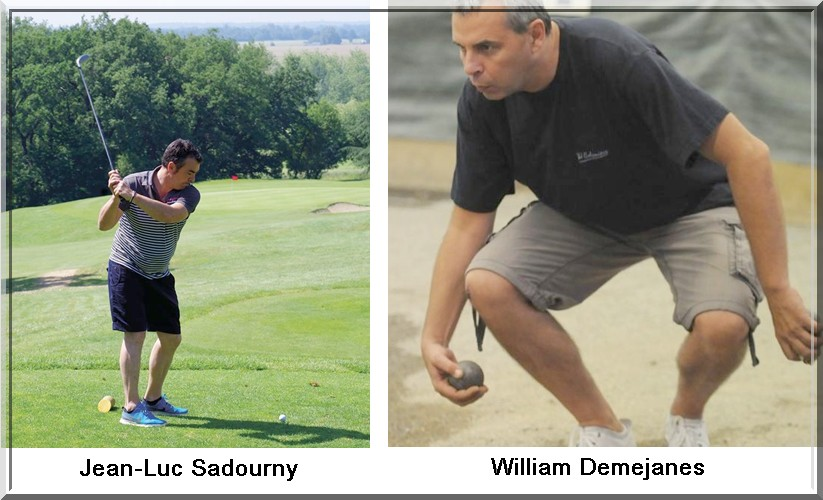 JL Sadourny W Demejanes pétank-golf