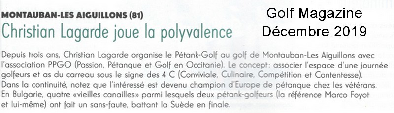 Scan golf magazine pétank-golf 2020