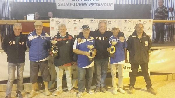 les 2 triplettes finalistes du national vétérans 2017 à St-Juéry