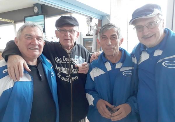 La team Godard Lo Mestre St-Juéry pétanque vétérans