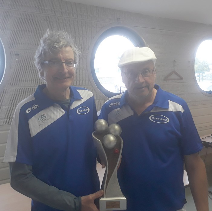 Vainqueurs caussade 2018 pétanque doublettes vétérans