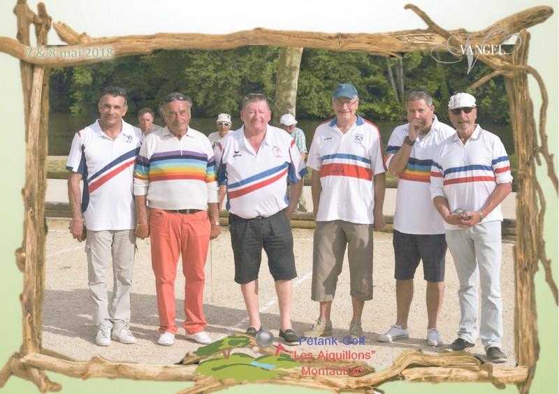 brochette de champions de pétanque au boulodrome d'Ardus-Plage