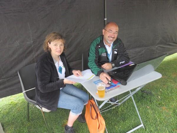 Patrick et Véronique, au contrôle des résultats, de notre 2ème