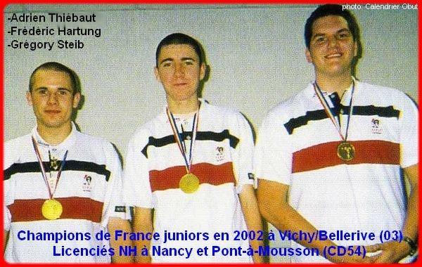 Champions de France pétanque juniors triplettes, en 2022 à Vichy