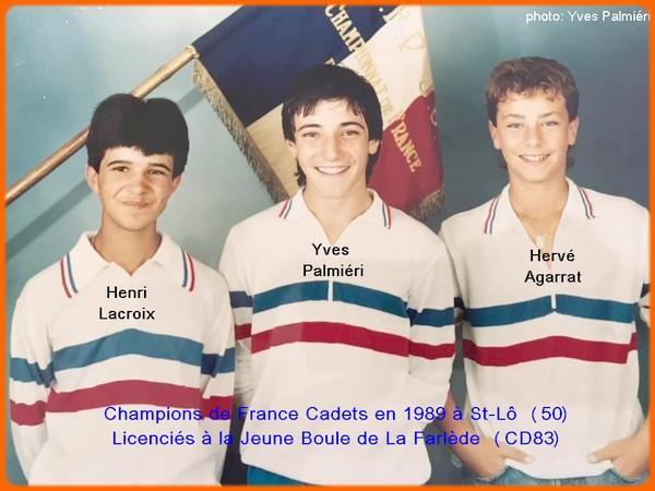 champions de Francets pétanque triplettes en 1989 à St-Lö