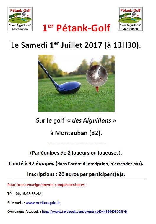Affichette petank-golf Montauban
